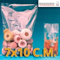 Bolsa de Plástico Transparente Polietileno 7x10 cm.
