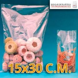 Bolsa de Plástico Transparente Polietileno 12.5x25 cm.