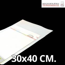 Bolsa de Plástico Transparente Polipropileno Cpp y Solapa Adhesiva 25x35 cm.