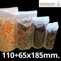 Bolsa de Plástico Transparente Polipropileno Cpp y Base 110+65x185 mm.