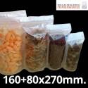 Bolsa de Plástico Transparente Polipropileno Cpp y Base 160+80x270 mm.