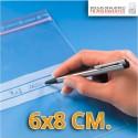Bolsa de Plástico Transparente Polietileno Cierre Zip y Banda de Escritura  6x8 cm.