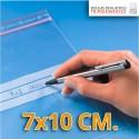 Bolsas de Plastico Transparentes Polietileno Autocierre y Banda de Escritura  7x10 cm