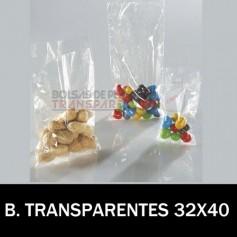 Bolsas de Plastico Transparentes Polietileno 32x40 cm.