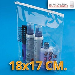 Bolsas de Plastico Transparentes Polietileno Cierre Cursor 18x17 cm.