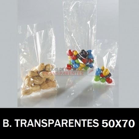 Bolsas de Plastico Transparentes Polietileno 50x70 cm