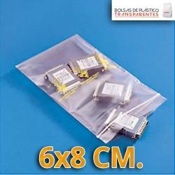 Bolsa de Plástico Transparente Polietileno Cierre Zip 6x8 cm.