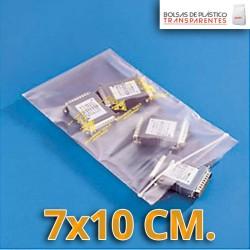 Bolsas de Plastico Transparentes Polietileno Autocierre 7x10 cm.