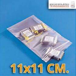 Bolsa de Plástico Transparente Polietileno Cierre Zip 11x11 cm.