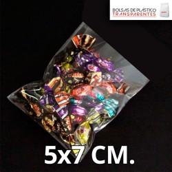 Bolsas de Plastico Transparentes Polipropileno 5x7 cm.