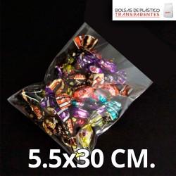 Bolsa de Plástico Transparente Polipropileno 5x7 cm.