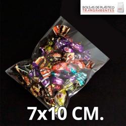 Bolsa de Plástico Transparente Polipropileno 7x10 cm