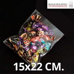 Bolsa de Plástico Transparente Polipropileno 15x22 cm