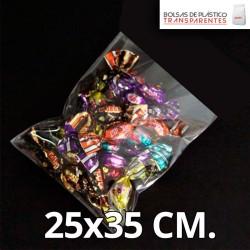 Bolsa de Plástico Transparente Polipropileno 25x35 cm