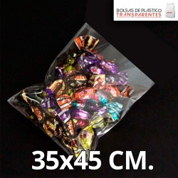 Bolsa de Plástico Transparente Polipropileno 35x45 cm