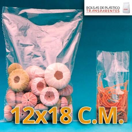 Bolsa de Plástico Transparente Polietileno 12x18 cm.