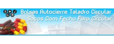 Bolsas de Plastico con Autocierre y Taladro Circular