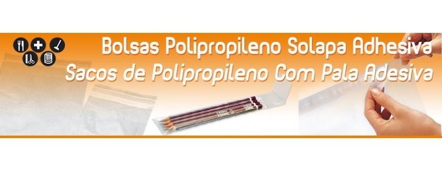 Bolsas de Plastico Polipropileno con Solapa Adhesiva