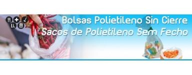 Bolsas de Plastico Polietileno sin Cierre