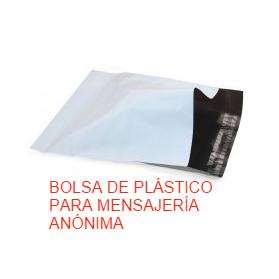 Bolsa Plástico Mensajería Anónima